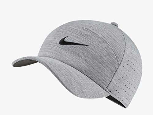 NIKE Arobill L91 Performance Cap, Carbon Heather/Anthracite/Black, Misc