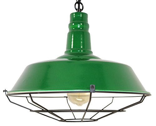 endant Light - Retro Style Light Fixture - Great Chic Lighting for Kitchen Islands, Dining Room, Living Room, Family Room, Bar, Restaurant, Lounge, Rustic Farmhouse Decor (Green) ()