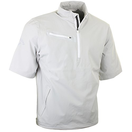 Callaway Golf Men's 1/4 Zip Gust 2.0 Short Sleeve Windshirt - L - High Rise