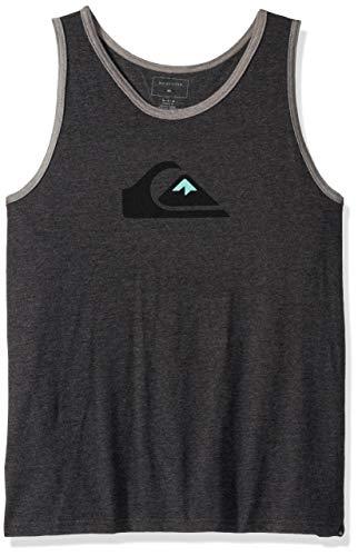 (Quiksilver Men's COMP Logo TEE, Charcoal Heather, XL)