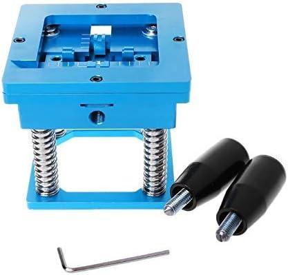 Gulakey Blue BGA reballing kit 90x90mm BGA reballing Station with Hand Shank Gift BGA Universal Stencil