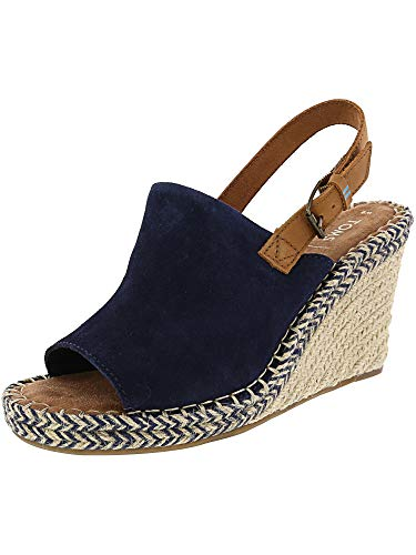 TOMS Women's Monica Navy Suede/Leather 9 B US