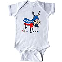 inktastic Cute Patriotic Democratic Donkey I Voted Infant Creeper