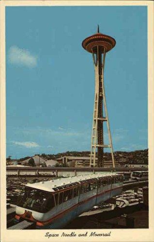 (Space Needle and Monorail Seattle, Washington Original Vintage Postcard)