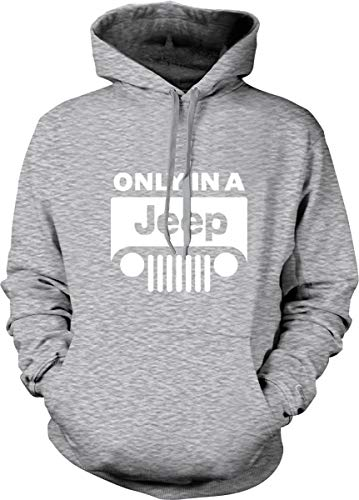 (Only in A Jeep Hoodie 4X4 Wrangler,Cherokee,Renegade Logo Pullover Sweatshirt Sports Gray )