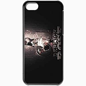 Personalized iPhone 5C Cell phone Case/Cover Skin 14706 Derrick Rose by gathero1 Black