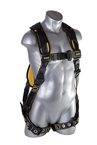 Guardian Fall Protection 21055 Cyclone Harness with PT Chest/TB Leg/No Waist Belt/Non Construction, Black/Yellow by Guardian Fall Protection