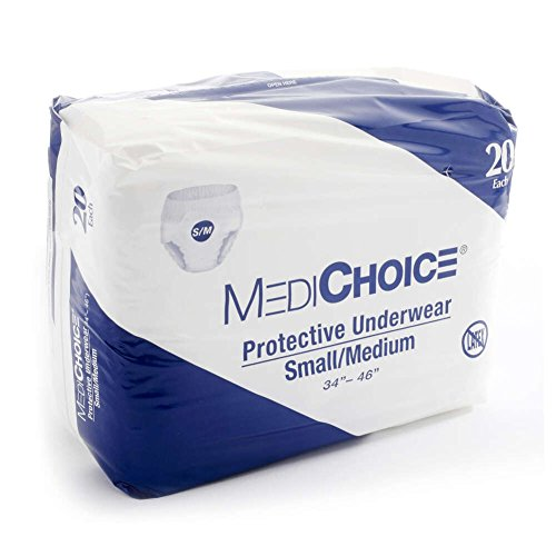 Medichoice Protective Underwear  Disposable Pull Ons  Fits Waist 34 46  Medium  1314Puw1605  Case Of 80