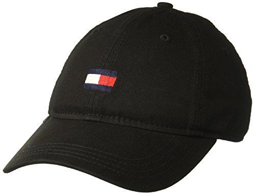 Tommy Hilfiger Mens Ardin Dad Hat, Black, One Size (Cap Smart)