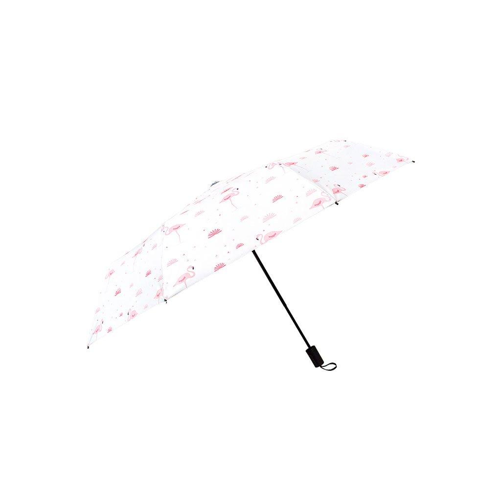 Hw home 傘 女性用 折りたたみ 小型 雨 デュアル使用 自動 三つ折り傘 学生 ビニール 日焼け止め 傘 B07CNXRN4C