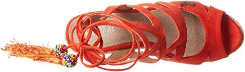 Kaporal Orange Tanao Sandales Femme corail Plateforme FfBFP