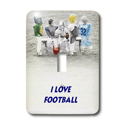 Football Switchplate Cover (3dRose LLC lsp_33155_1 Kids N Football Single Toggle Switch)