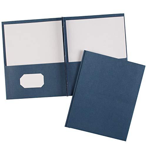 Avery Two-Pocket Folders Dark Blue, Pack of 25 (47975)