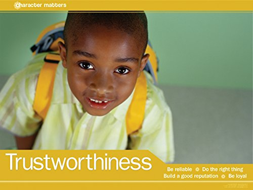 Trustworthiness: Do the Right Thing Laminated Educational Poster For Elementary School Students ()