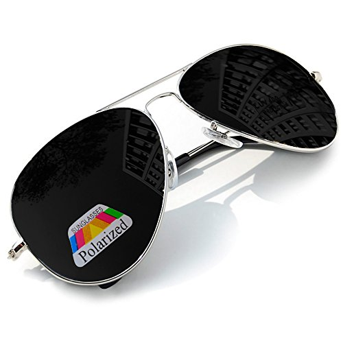 Hommes Soleil Morefaz Mirror Lunettes Femmes Polarisée Style Pilote Ltd De Silver Black … Miroir MFAZ Bq5xt751w