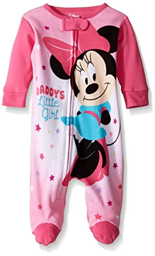Disney Girls' Minnie Mouse 1pc Sleeper, Pink, 0/3