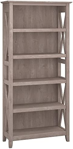 Bush Furniture Collection Bookcase Washed