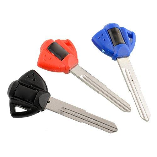 Sedeta OEM 3 pcs Blank Key Uncut For Suzuki GSX GSXR 600/750/1000/1300 DL650 Motorcycle for Motorbike car replacement For Suzuki GS500F Motorcycle 3pcs 3 Color OEM Uncut Blade GSXR1000 GSXR600 GSXR75
