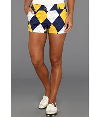 Loudmouth Golf Blue and Gold Mega Short Shorts Size 0