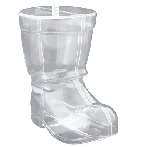 Fillable Santa Boot Transparent Plastic Decoration / Container Xmas Christmas