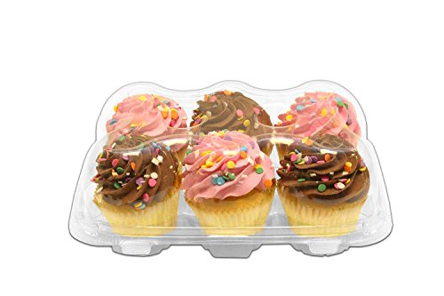"Inno-Pak KP456 6 count Cupcake Container, 9.63"" x 6.88"" x..."