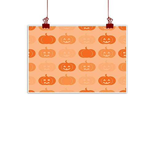 Mannwarehouse Modern Frameless Painting Seamless Pattern with Pumpkins for Halloween Bedroom Bedside Painting 35