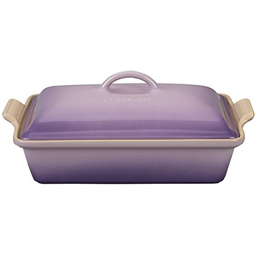 Le Creuset PG07053A-33BP Heritage Stoneware Covered Rectangular Casserole Dish, 4 quart, Provence