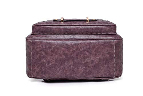 Mzdpp Pour Cuir Rétro Femme Purple À En Bandoulière Gras Sac aqr0a