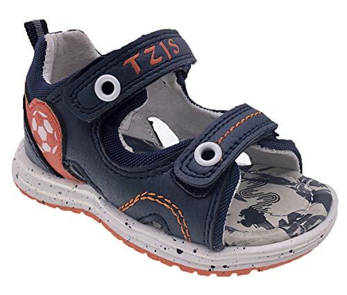 (TZJS Boy's Summer Beach Double Adjustable Strap Sport Sandals(Toddler,Blue, 6M) )