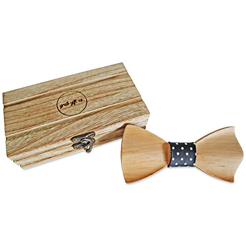 Men's Wooden Bow Tie - Pre-shaped Bow Tie | No Hassle of Folding and Tying - Perfect for Business Meetings and Wedding Events