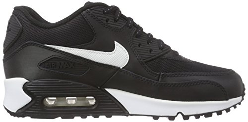 Nike Air Max 90 Flash (GS) Unisex-Kinder Low-Top Schwarz (001 BLACK/SUMMIT WHITE)