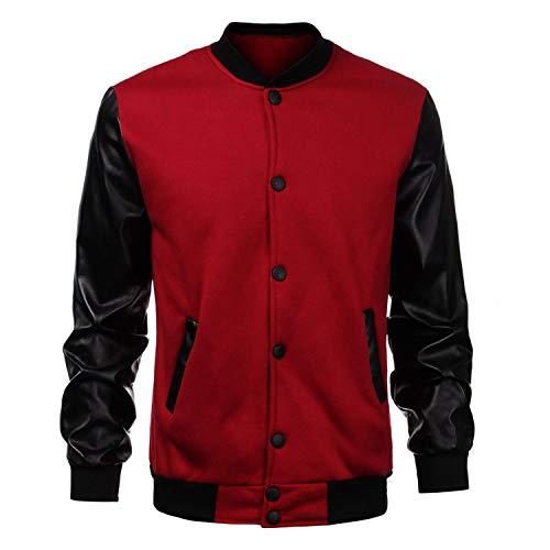 Amazon.com: uesapihje College Baseball Jacket Men Design Sleeve Mens XXL: Clothing