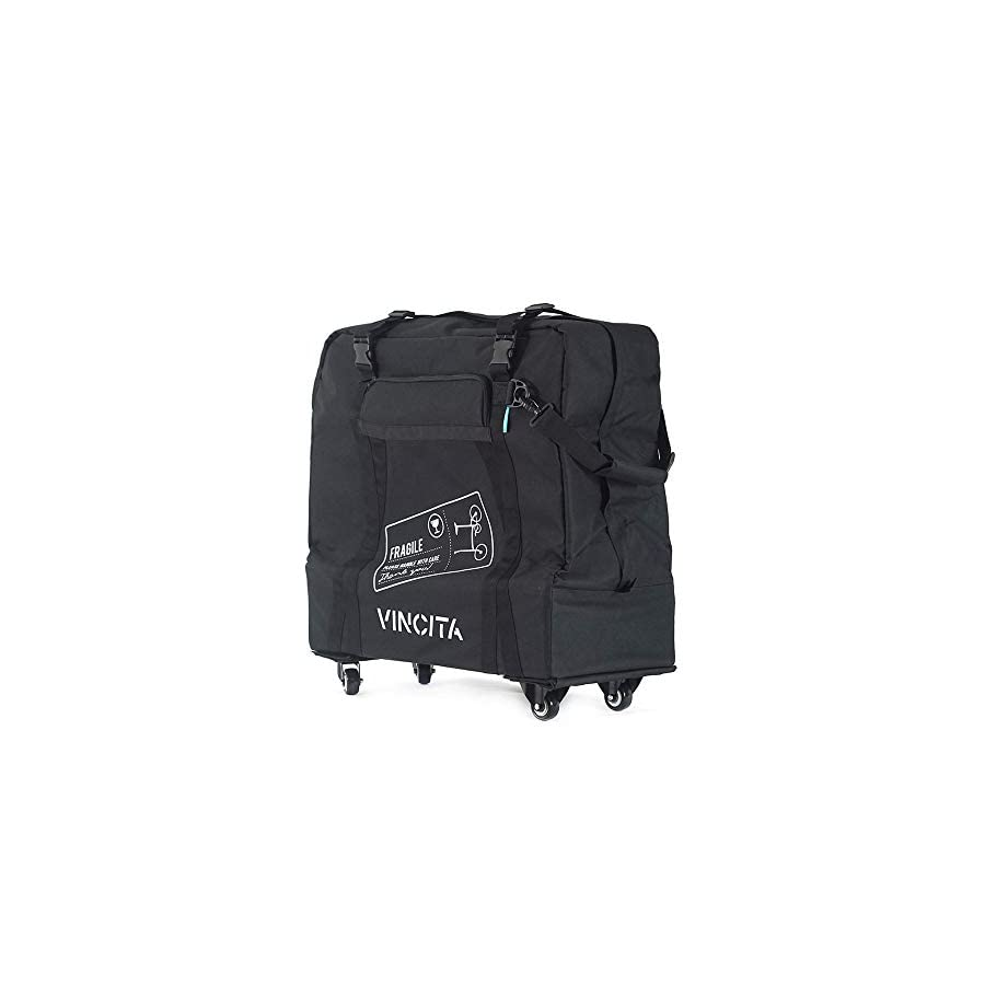 Vincita Soft Transport Bag with Wheels for Brompton Bicycle