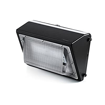 Hyperikon LED Wall Pack Fixture, HPS/HID Replacement, IP65 Waterproof and Outdoor Rated, DLC 4.2 & UL - Shield Included