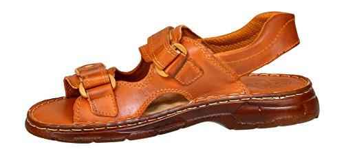812 Kognak Schuhe Herren der Buffelleder Bequeme Hausschuhe mit Aus Modell Sandalen Orthopadischen Echtem Lukpol Einlage 61tOBqx6n