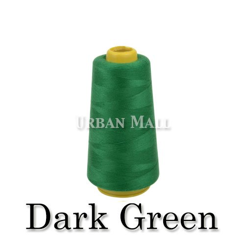 6000 Yards Dark Green Sewing Thread All Purpose 100% Spun Polyester Spools Overlock Cone (Upholstery, Canvas, Drapery, Beading, Quilting)