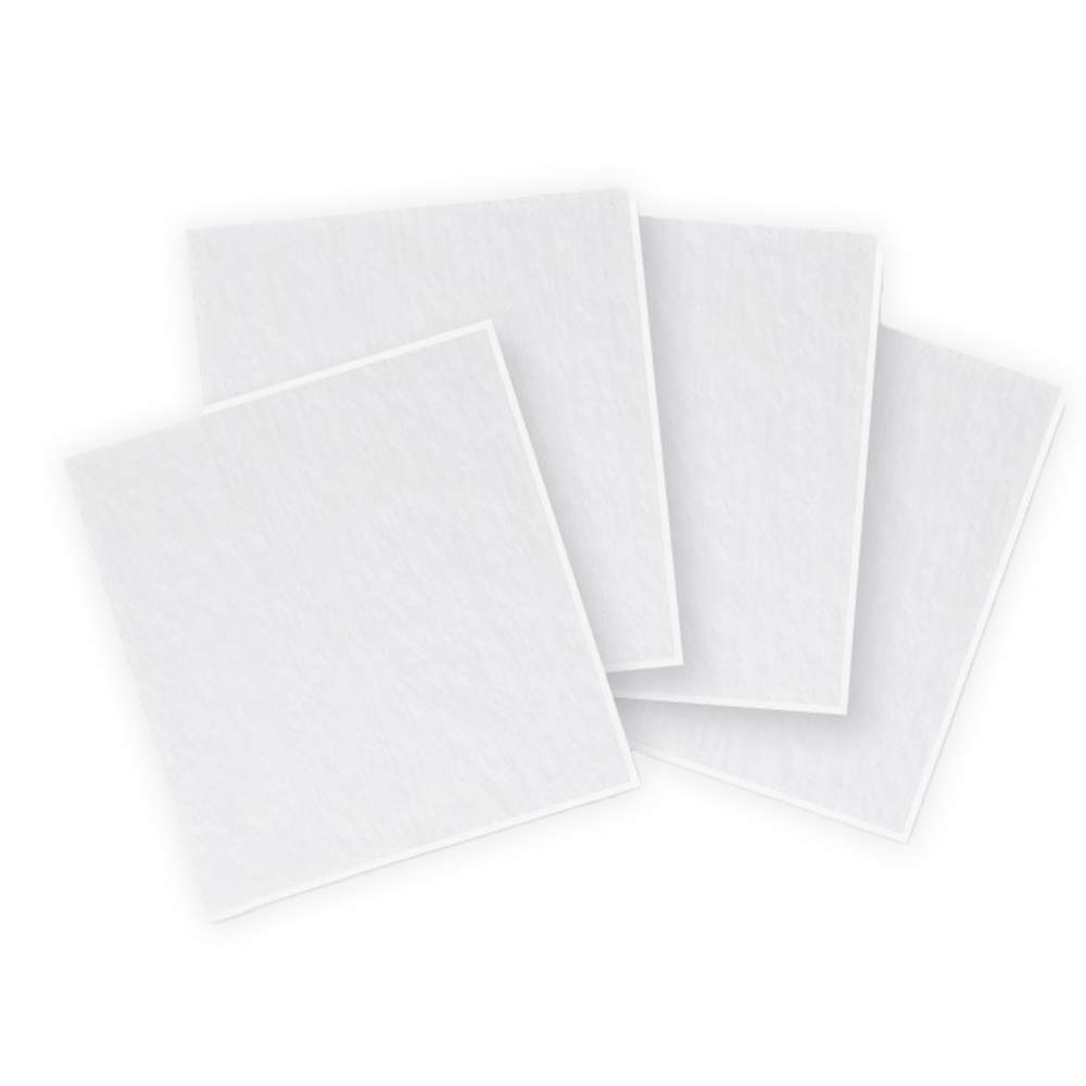 8 inch Clear Fusible Glass Squares COE 90-4 Pack