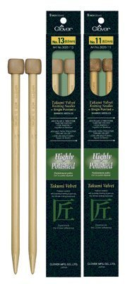 Takumi Velvet Single Point Knitting Needles 9