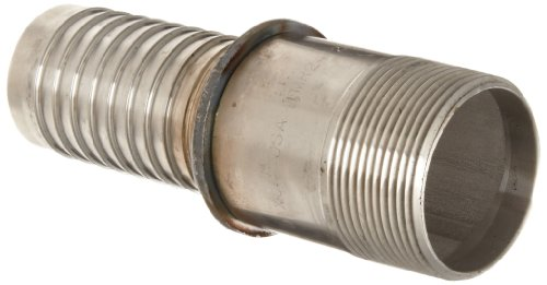 (Dixon Holedall TMR24 Stainless Steel 316 Hose Fitting, NPT Male Pipe External Swage Stem, 1-1/2