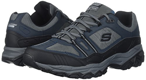 Skechers Sport Men's Afterburn Strike Memory Foam Lace-Up Sneaker,Navy/Gray,12 M US