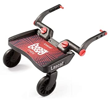 Lascal 2850 - Buggy Board Mini - Tabla con ruedas para carrito, color rojo y negro: Amazon.es: Bebé