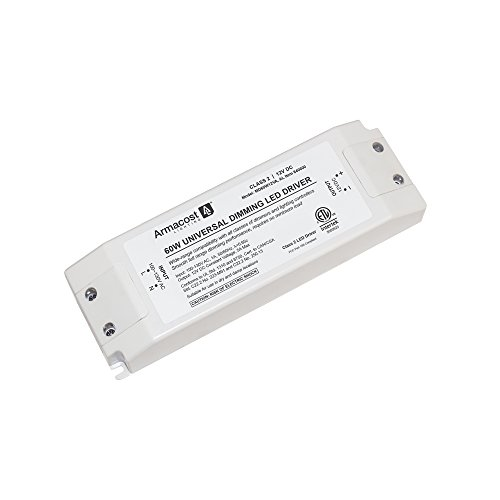 (Armacost Lighting 840600 60 watt LED Power Supply Dimmable Driver, White)