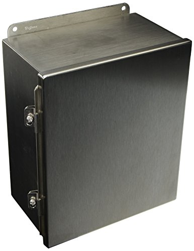 (Hoffman A12106CHNFSS J Box, NEMA 4X, Hinged Cover, Stainless Steel Type 304, 12.00