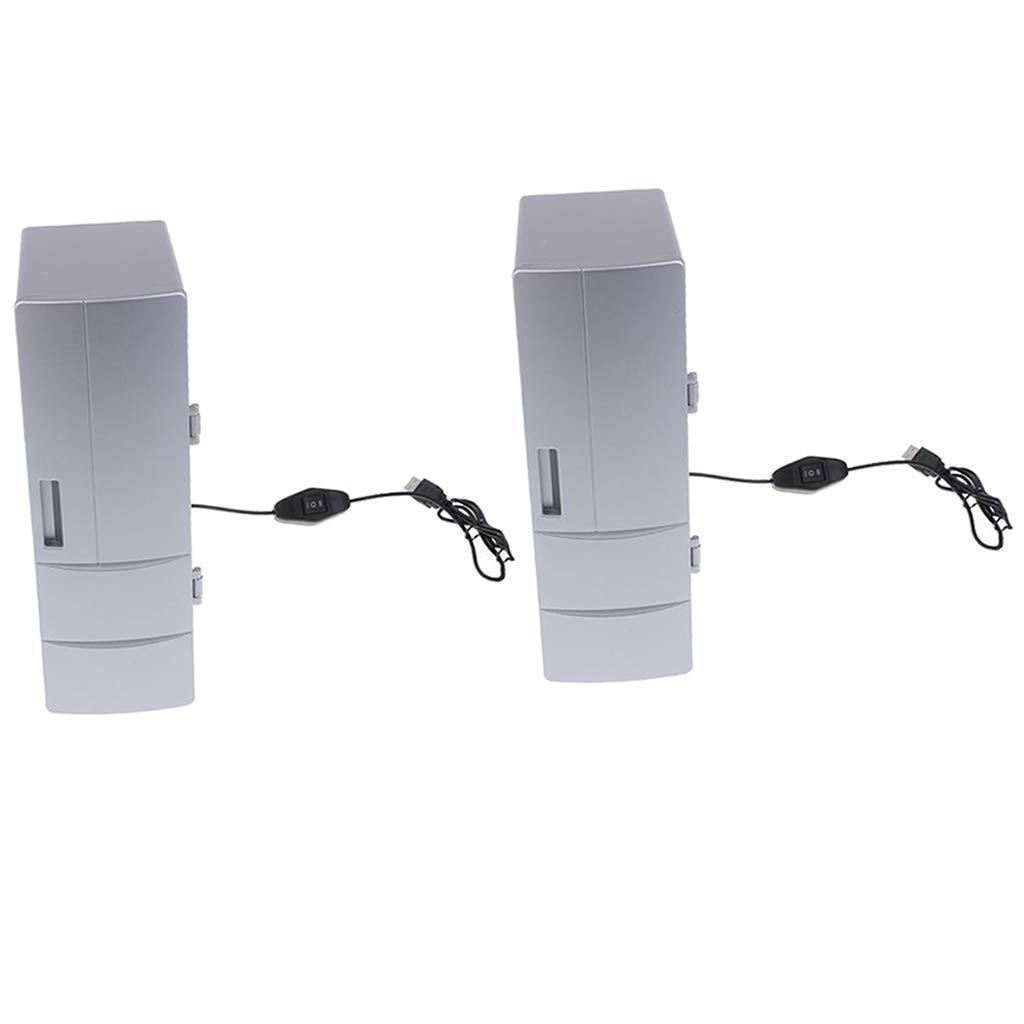 Baosity Portable Mini Fridge Heat and Cool Dual USB Refrigerator Freezer Car Travel (Pack of 2) by Baosity (Image #1)