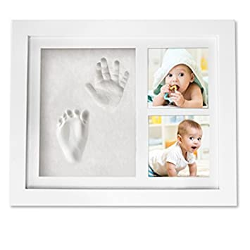 Amazon.com : Handprint Footprint Picture Frame Kit - Baby Shower ...