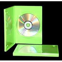 100 Pack 14mm Solid Green Standard Single DVD Case