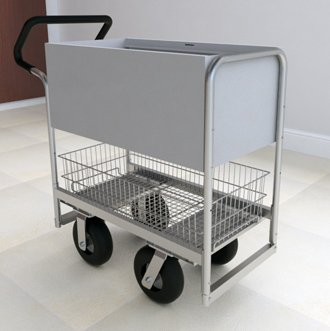Charnstrom Ergo Handle Solid Metal Cart with 3 Different Wheel Options (B254E) by Charnstrom