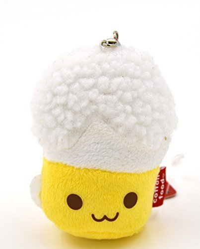 Cotton Food Anti Dust Plug Plush Cellphone Charm (Beer)