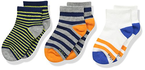Stride Rite Boys 3-Pack Quarter Socks