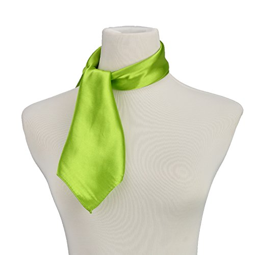 Pure Color Silk Feel Scarves Clothing Accessories Square Scarf Fashion Green